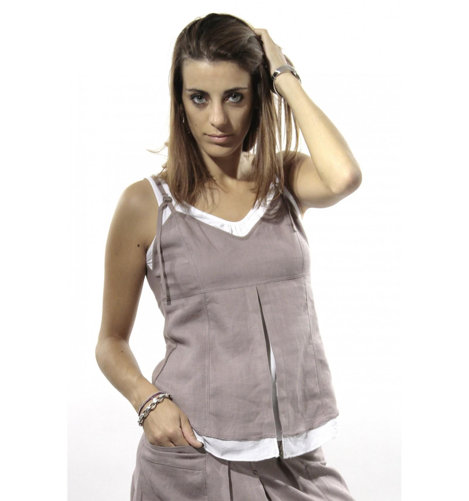 Bien connu Débardeur femme marque Maloka - Mode-Lin.com - Mode-Lin.com IE77