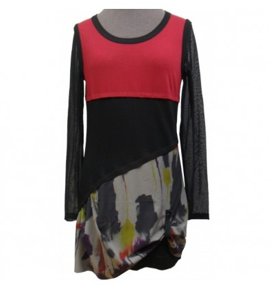 Black and red dress Maloka winter - Chris