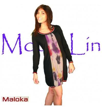 Bi-color dress Maloka winter - Larisa