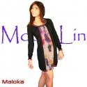 Robe Bi-color Maloka hiver - Larisa