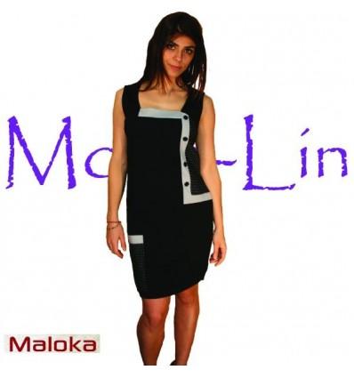 Robe noir cintrer Maloka - Adamh
