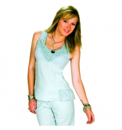 Maloka tank top in linen and natural cotton