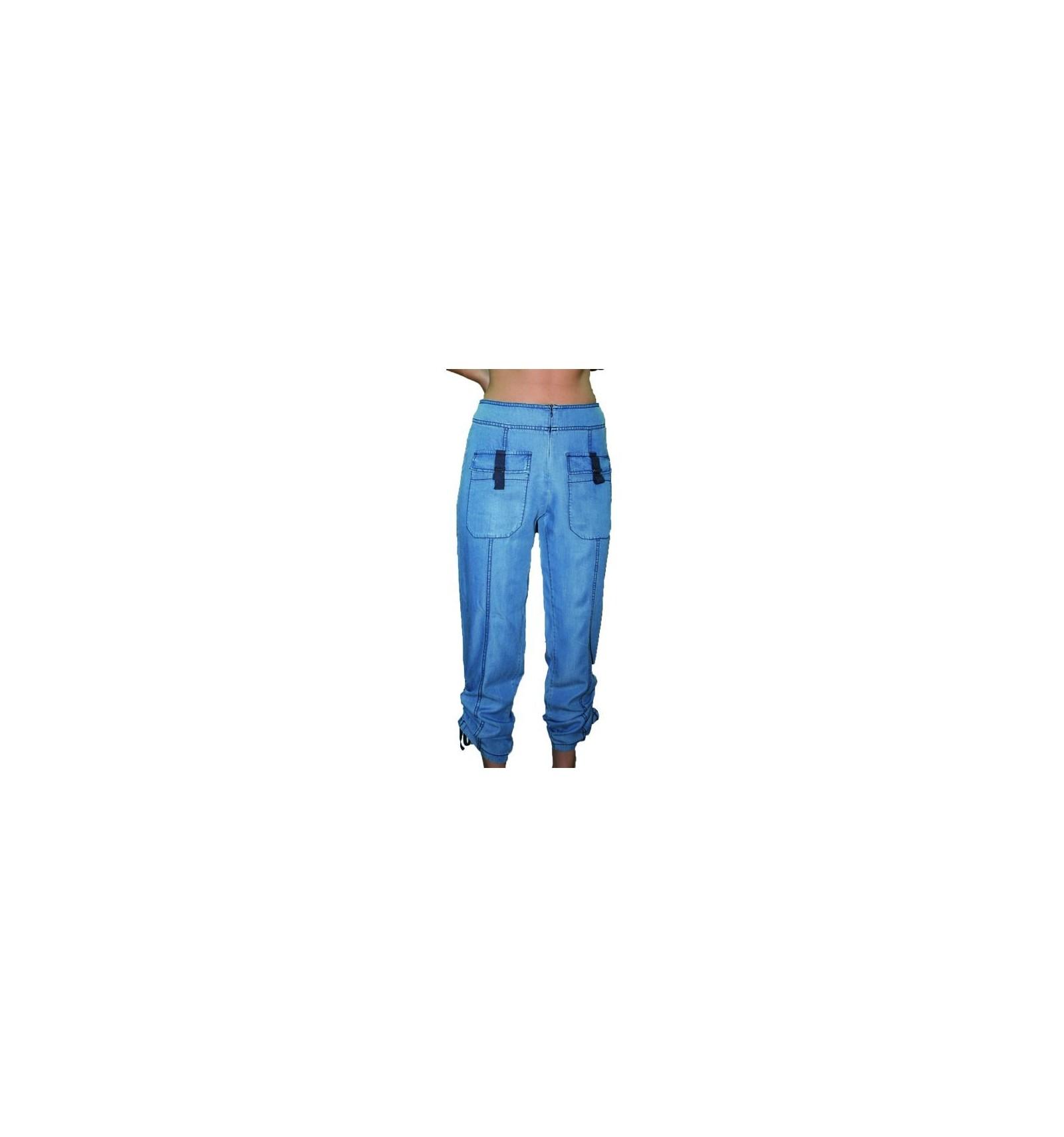 pantacourt femme en jeans maloka mode lin sp cialiste de la mode pour femme. Black Bedroom Furniture Sets. Home Design Ideas