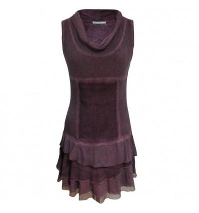 Robe courte couleur prune Maloka - Taiga