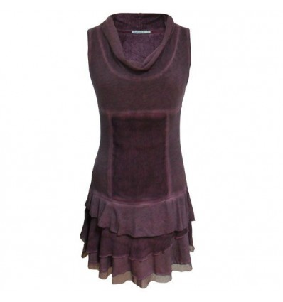 Short plum colored dress Maloka - Taiga
