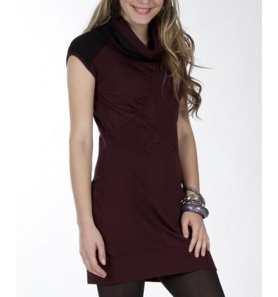 Straight-cut dress Maloka plum color - Houston