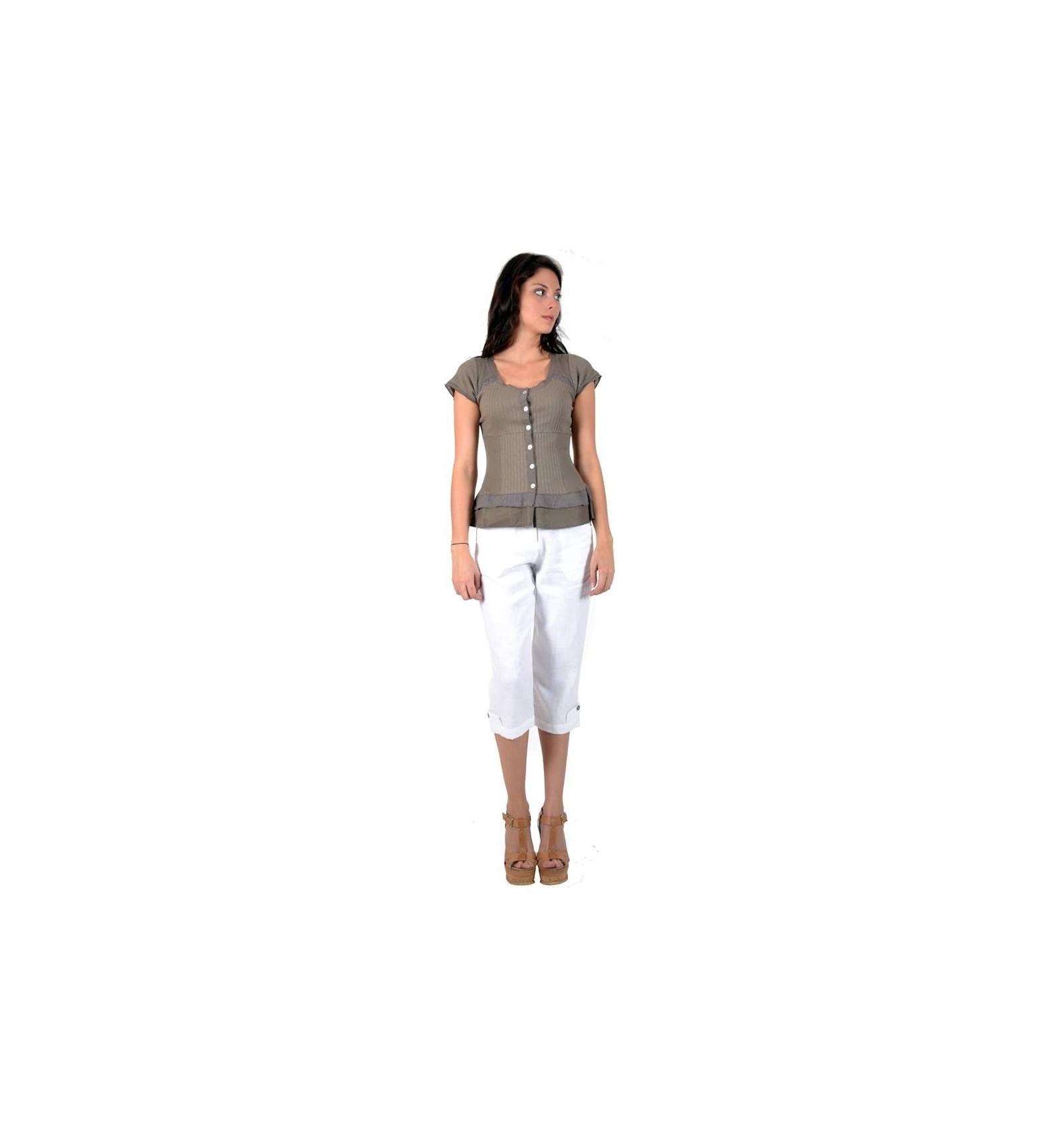 pantalon femme en lin coupe droite mode. Black Bedroom Furniture Sets. Home Design Ideas