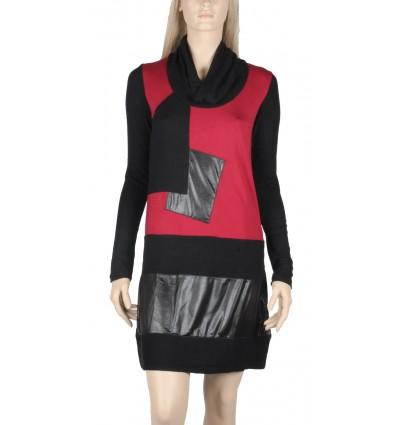 "Viscose Lycra dress Maloka color sangria ""Even"""