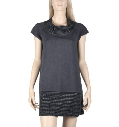 """Short sleeve gray dress Maloka """"Alba"""""""