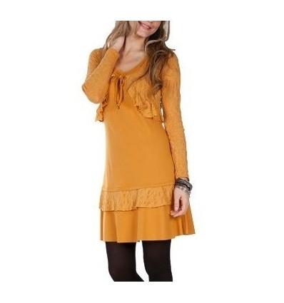 Short dress Maloka color Safran -Phoenix-