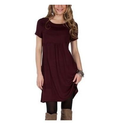 Short sleeve red dress Maloka - Marylin