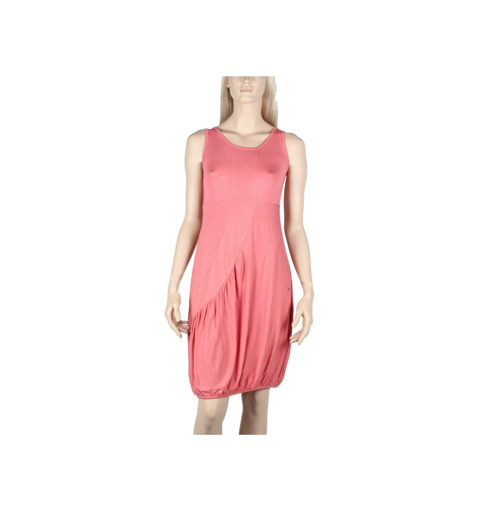 Maloka woman coral colored dress on sale on Mode-Lin