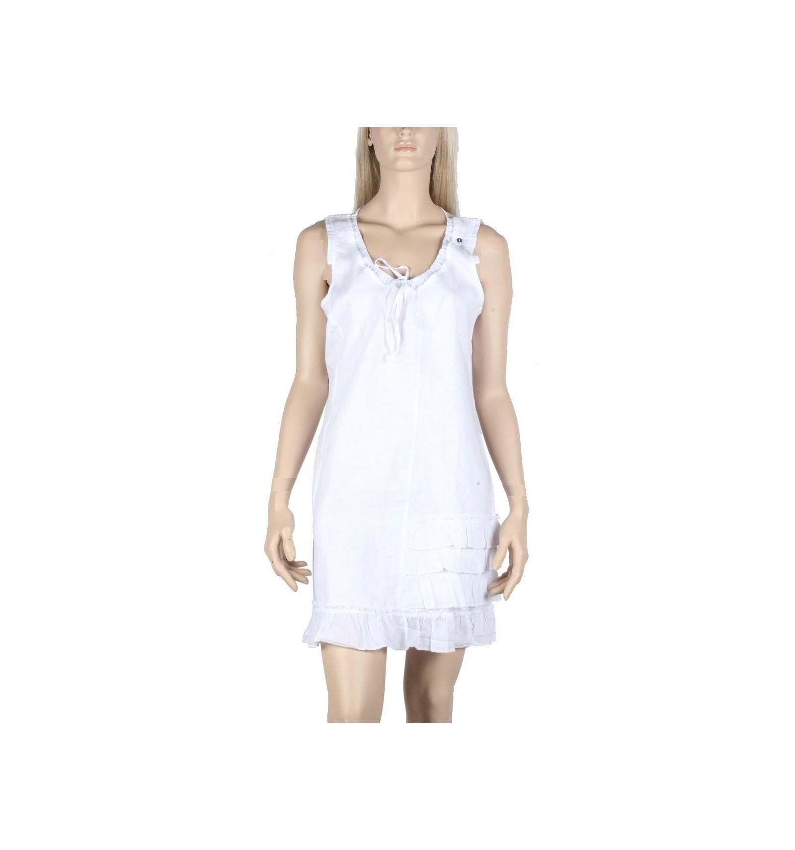 robe blanche maloka en lin et coton mode mode femme. Black Bedroom Furniture Sets. Home Design Ideas