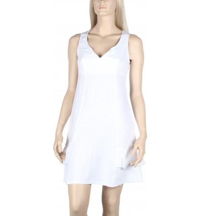 """Robe en lin et coton Maloka couleur blanc """"Ralf"""""""