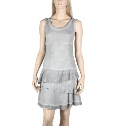 "Short dress maloka silver color ""Thalassa"""
