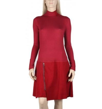 "Maloka boiled wool dress red ""Mirza"""
