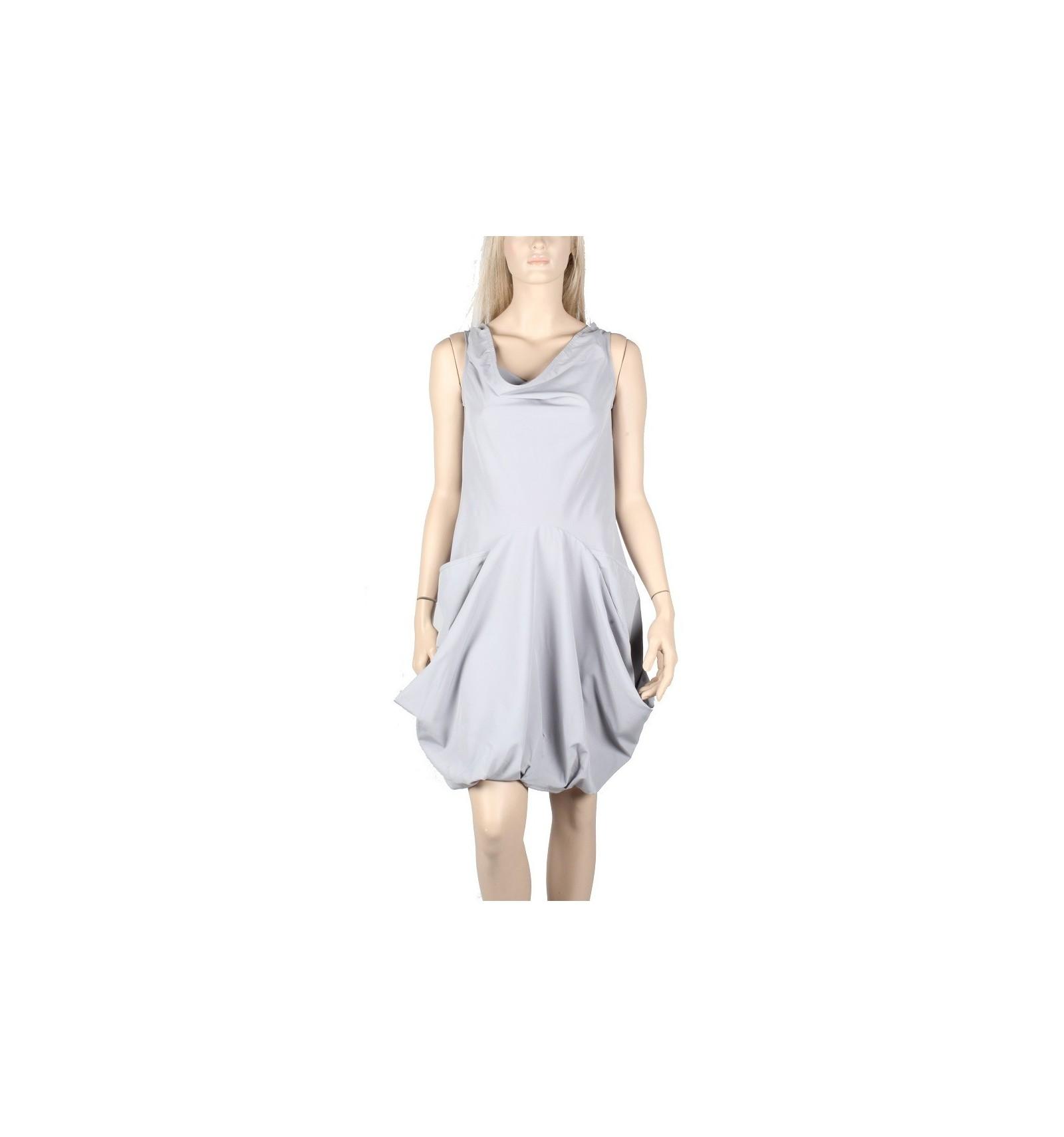 Sleeveless dress maloka grey \