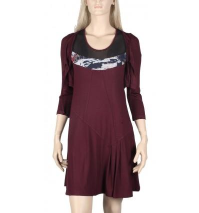 "Maloka viscose dress color prune ""Kansas"""