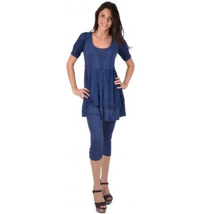 "Maloka cotton tunic midnight blue ""Fabia"""