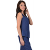 Blue tank top Maloka linen and cotton - Austin