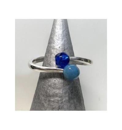 Bracelet Ciclon double pierre bleu