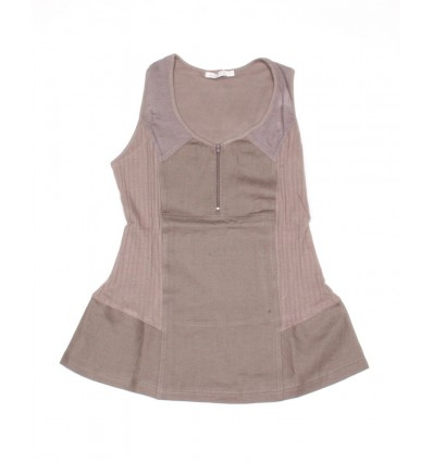 Top Maloka linen and cotton galet color - Austin