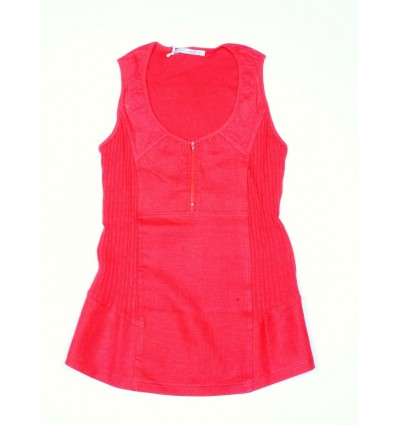 red top Maloka linen and cotton - Austin